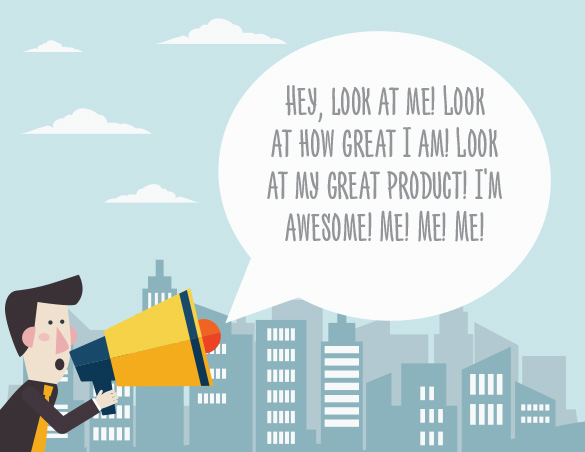 Look at me, guy with megaphone